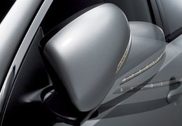 Wiring extension folbable rear view mirrors
