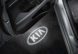 LED door projectors, Kia logo