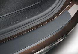 Rear bumper protection foil, black