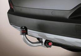 Tow bar detachable vertically