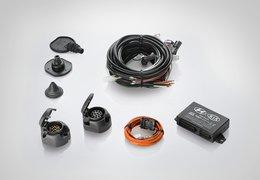 Tow bar wiring kit, 13p