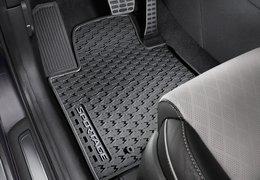 Floor mats rubber grey logo