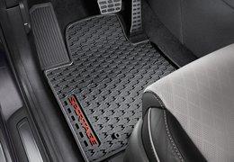 Floor mats rubber red logo