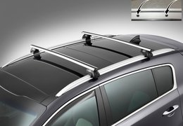 Cross bars aluminium for Sportage with roof rail fixation holes