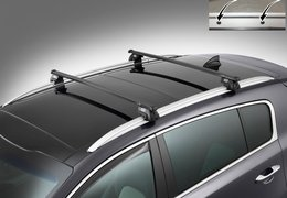 Cross bars steel for Sportage with roof rail fixation holes