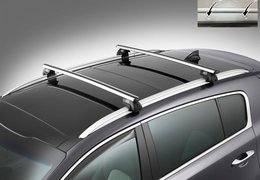 Cross bars aluminium for Sportage without roof rails fixation holes