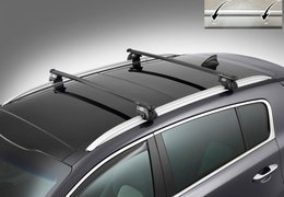 Cross bars steel for Sportage without roof rail fixation holes
