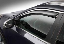 Wind deflectors front windows