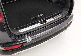 Rear bumper protection foil, transparent