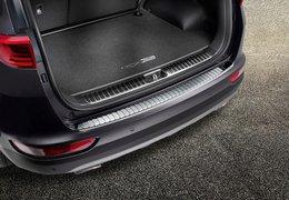 Rear bumper proctector stainless steel high gloss