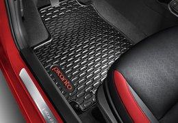 Floor mats rubber, red logo