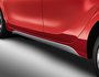 Side skirts, black, silver or red