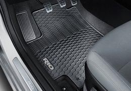 Floor mats rubber, gray logo