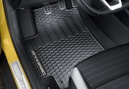 Floor mats rubber, grey logo