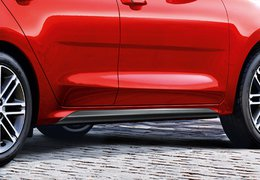 Side skirts, black, silver, red
