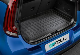 Trunk liner, Soul EV with luggage biard and trunk loudspeakers