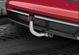 Tow bar detachable vertically