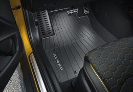 Floor mats, rubber