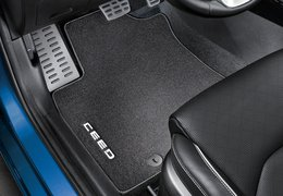 Floor mats velour, Ceed with automatic transmission
