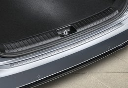 Rear bumper protection, brushed