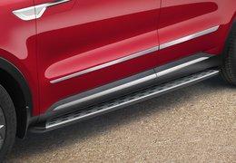 Side trim line, satin chrome