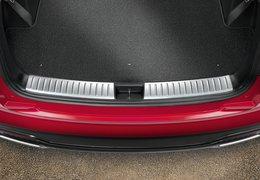 Trunk sill trim line, satin chrome