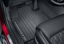 Floor mats, rubber (hybrid versions)